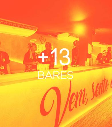 mais de 13 bares